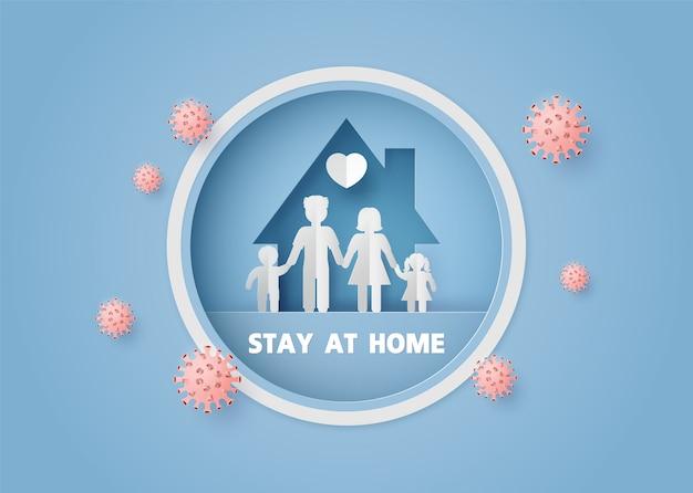 Blijf thuis tijdens de coronavirusepidemie.