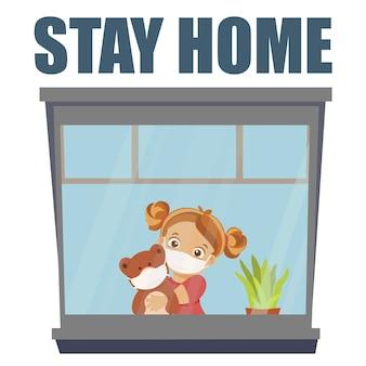 Blijf thuis tijdens de epidemie