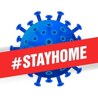 Blijf thuis vectorinhoud op een witte achtergrond. hashtag blijf thuis achtergrond.