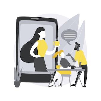 Blijf verbonden met mensen abstracte concept illustratie.