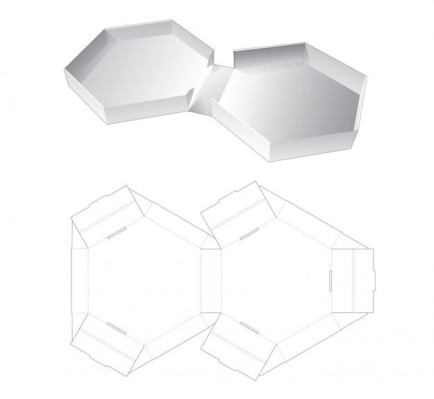 Blik hexagonale verpakking gestanste sjabloon