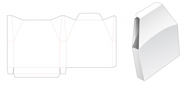 Blik unieke vorm verpakking gestanste sjabloon