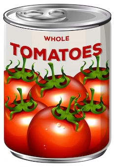 Blik van hele tomaten
