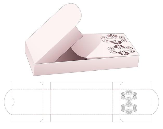 Blikken doos met middelste opening met gestencilde mandala gestanste sjabloon