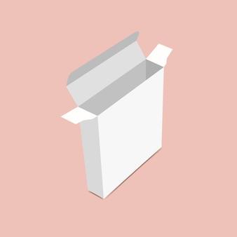 Blikken vierkante doos mock-up
