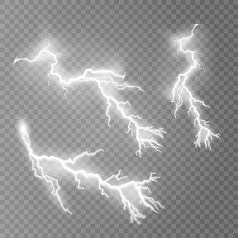 Bliksem flitslicht donder vonken illustratie
