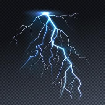 Bliksem of blikseminslag lichte illustratie.