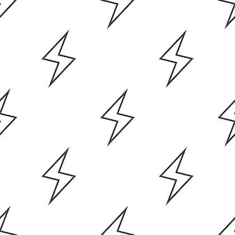 Bliksem, vector naadloos patroon, bewerkbaar kan worden gebruikt voor webpagina-achtergronden, opvulpatronen