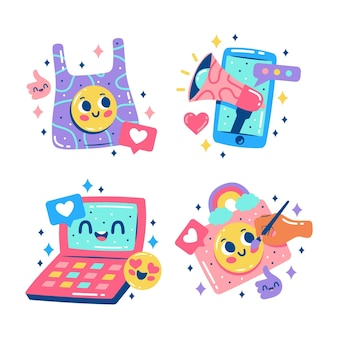 Blitse influencer-stickers