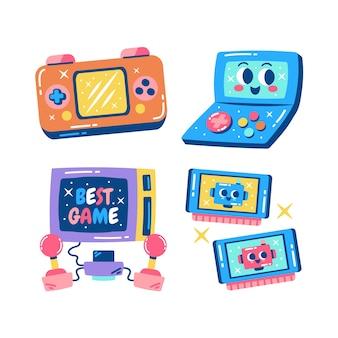 Blitse verzameling retro-gamestickers