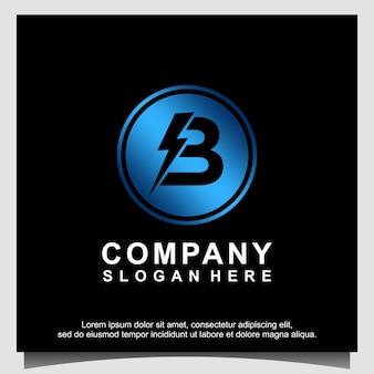 Blitz letter b logo ontwerpsjabloon