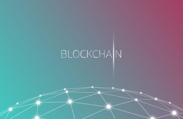 Blockchain concept, blockchain-technologie. ico (aanvankelijk aanbieding van coin), crypto-valuta t