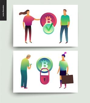 Blockchain concept vectorillustratie