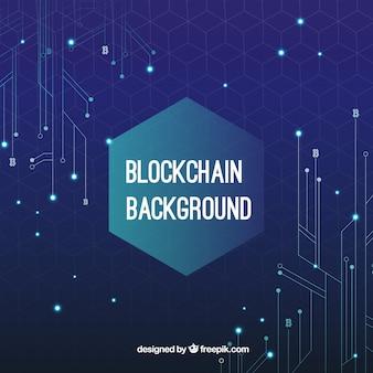 Blockchain-conceptenachtergrond