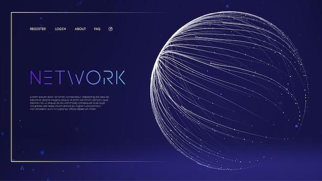 Blockchain overdracht satelliet toekomstige communicatie vector achtergrond
