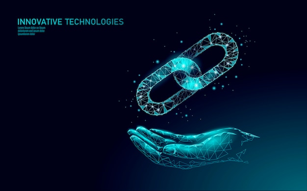 Blockchain symbool bedrijfsconcept. ketenverbinding netwerk financiën informatiebeveiliging. . wereldwijde technologie e-commerce online