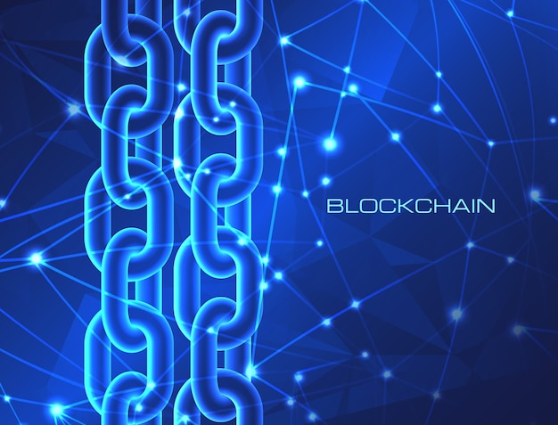 Blockchain technologie concept block chain database data cryptocurrency business