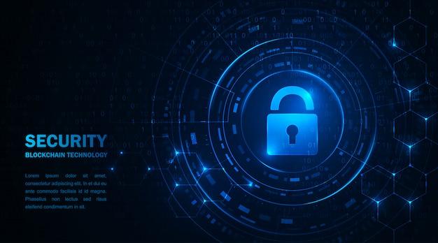 Blockchain-technologie cryptocurrency. informatiebeveiliging van transacties met virtueel geld