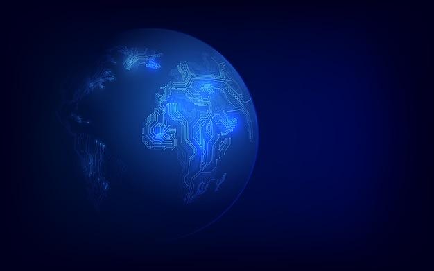 Blockchain-technologie met wereldwijd verbindingsconcept geschikt voor financiële investeringen of cryptovalutatrends
