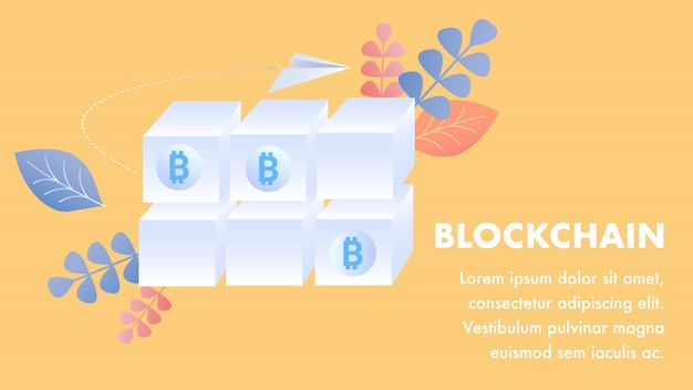 Blockchain technologie sjabloon