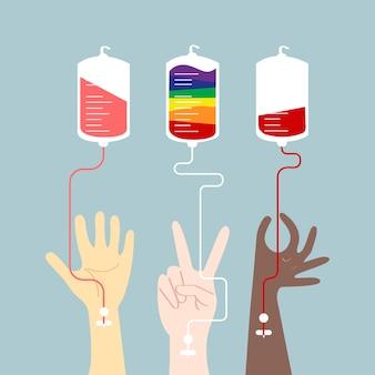 Bloed donatie concept vectorillustratie