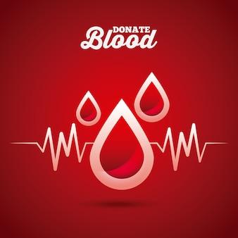 Bloed druppels op rode achtergrond