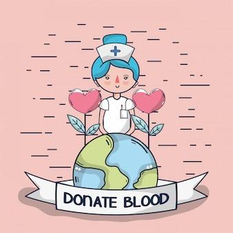 Bloeddonatie cartoon