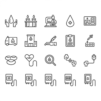 Bloeddonatie icon set