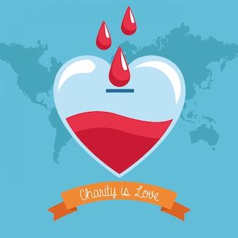Bloeddonatie liefdadigheid tekenfilms
