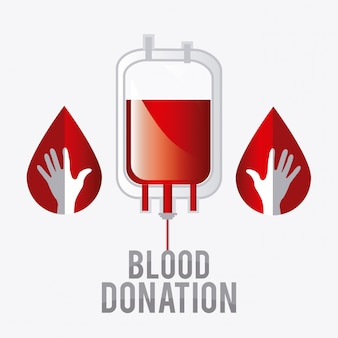 Bloeddonatie ontwerp.