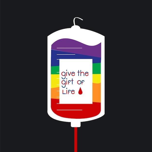 Bloeddonatie tas vectorillustratie