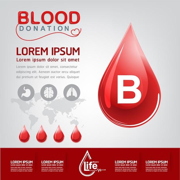 Bloeddonatie vector concept - ziekenhuis om nieuw leven opnieuw te beginnen