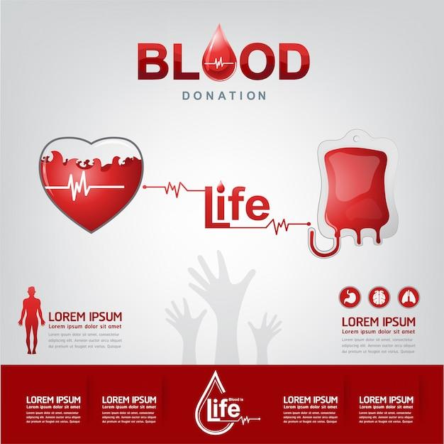 Bloeddonatie vector concept