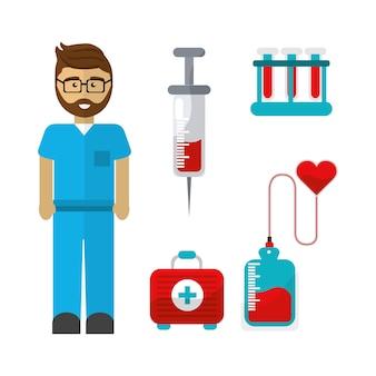 Bloeddonatiehulpmiddelenpictogram