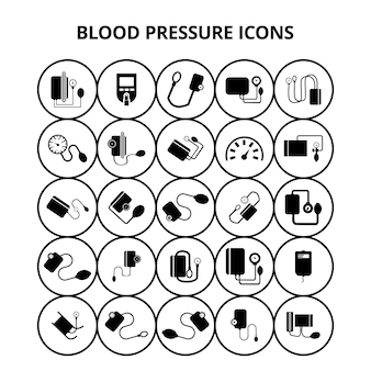 Bloeddruk iconen