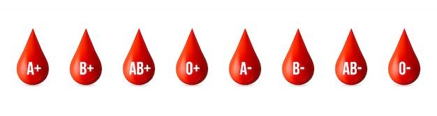 Bloedgroep, medicijn donor dag element.