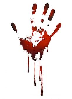 Bloedige handafdruk