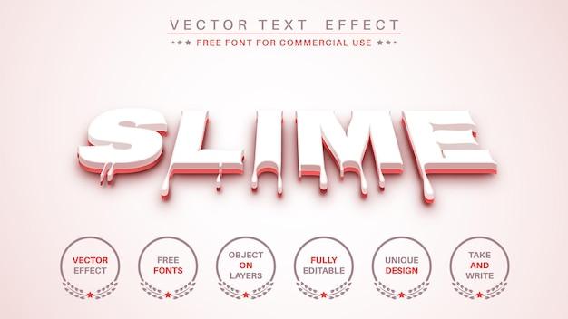 Bloedslijm bewerk teksteffect bewerkbare lettertypestijl