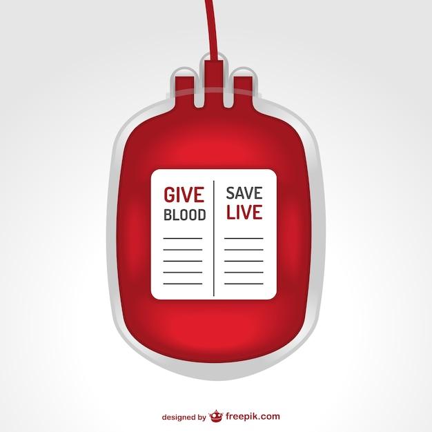 Bloedtransfusie zak illustratie