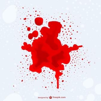 Bloedvlek vector achtergrondgeluid