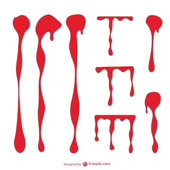 Bloedvlekken vectorafbeeldingen