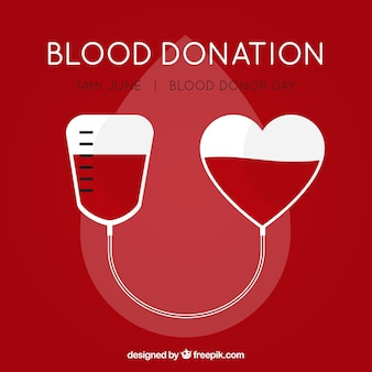 Bloedzak achtergrond voor donor dag