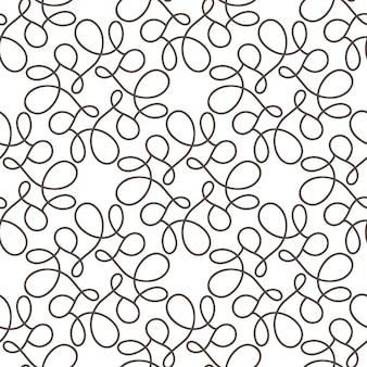 Bloei naadloos patroon met grijze wervelingen