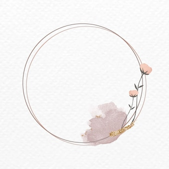 Bloeiend rond bloemenframe