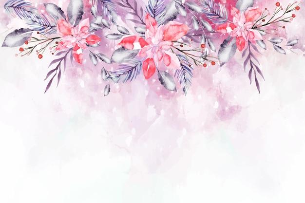 Bloeiende aquarel bloemen voor behangconcept