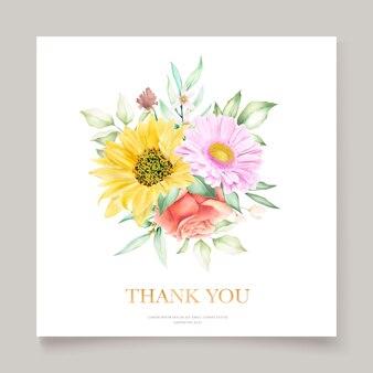 Bloeiende bloemen lente uitnodigingskaartenset