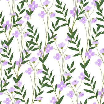 Bloeiende matthiola bloem met bladeren en bloemblaadjes