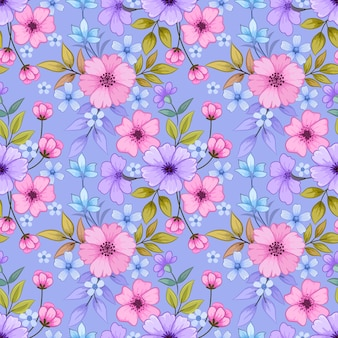 Bloeiende roze en paarse kleur bloemen achtergrond.