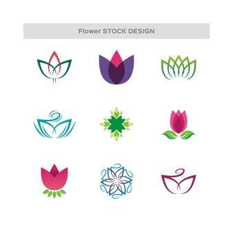 Bloem abstract logo ontwerp vectormalplaatje. illustratie, grafisch concept-logo