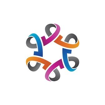 Bloem abstract modern logo sjabloon